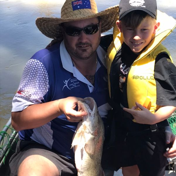 8 lbs / 26 in Murray cod caught by Dwayne Hinton