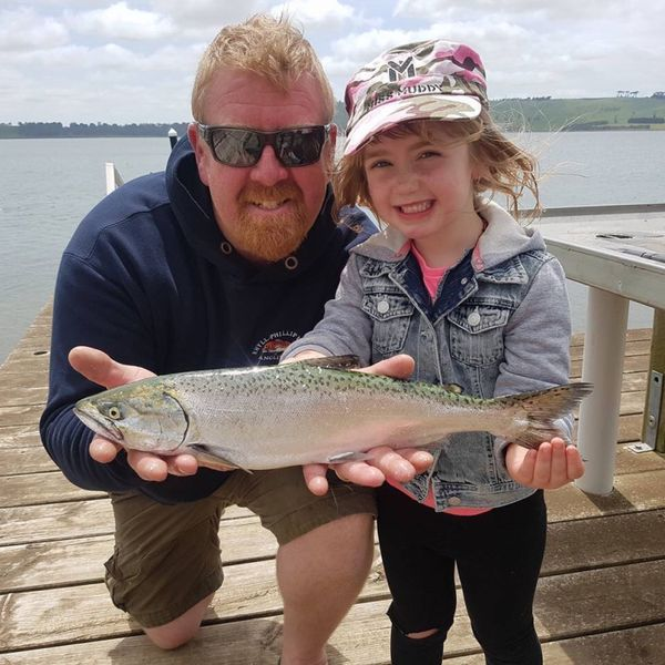 1 lbs / 13 in Chinook salmon caught by Riley Inness