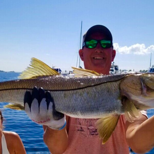 Common snook caught by Ron Drsprez