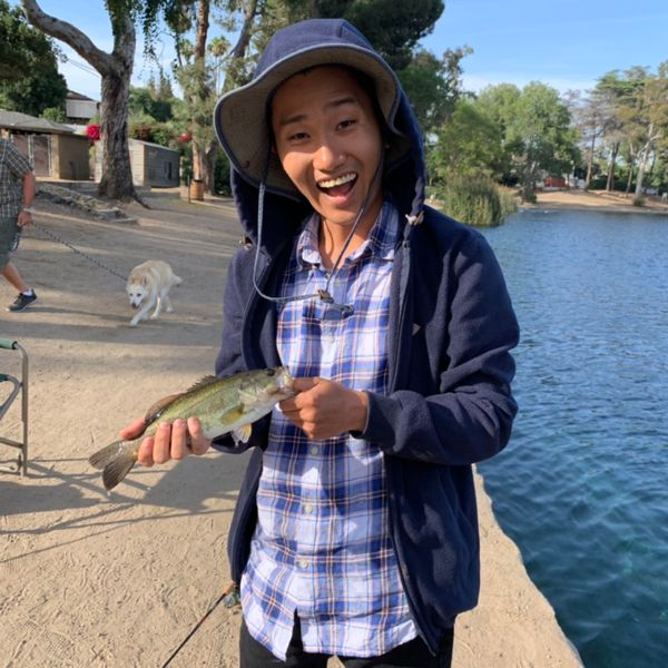 1 lbs Largemouth bass caught by Kevin Kim
