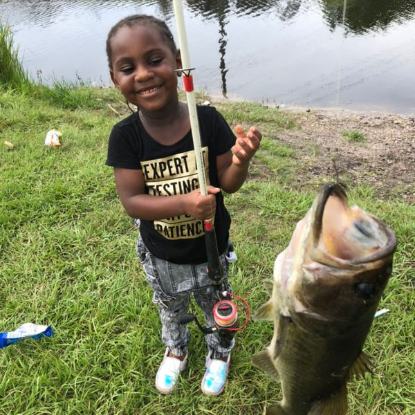 Largemouth bass caught by Lillian Williams