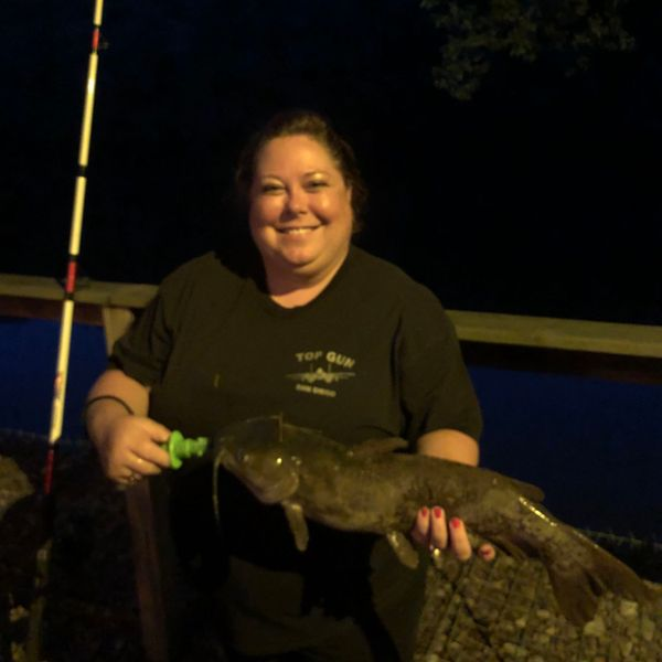 28 in Channel catfish caught by Kris Barrick